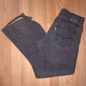 Levi's 513 black jeans